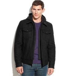 d3d4c495 Men's Black Wool Jackets by GUESS | Men's Fashion | Lookastic.com