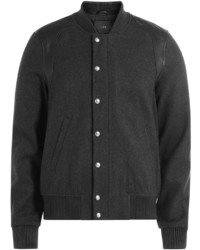 IRO Wool Bomber Jacket With Leather
