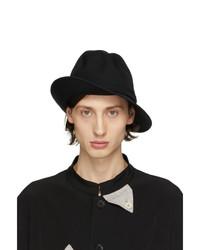 Yohji Yamamoto Black Wool Bucket Hat