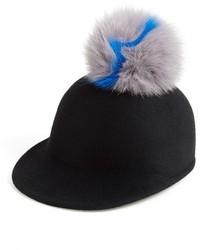 Eugenia Kim Bo Genuine Fox Fur Pom Cap