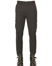 Black Wool Cargo Pants