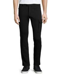 Atm slim fit stretch cargo pants black medium 392867