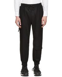 Black chute cargo pants medium 392852