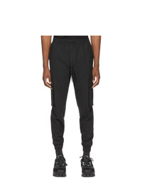 Juun.J Black Stretch Jogger Cargo Pants
