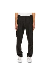 Moncler Black Virgin Wool Cargo Pants