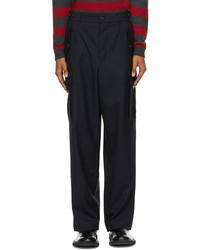 Loewe Black Wool Cargo Pocket Trousers