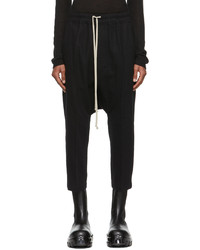 Rick Owens Black Cropped Trousers