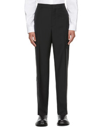 Valentino Black Mohair Wool Trousers
