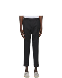 Z Zegna Black One Pleat Trousers