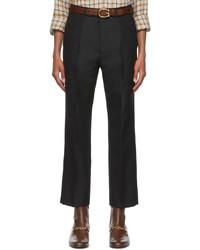 Gucci Black Panama Trousers
