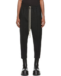 Rick Owens Black Paper Astaires Trousers