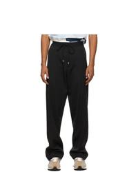 Lanvin Black Straight Fluid Trousers