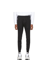 DSQUARED2 Black Tropical Stretch Wool Jogger Fit Trousers