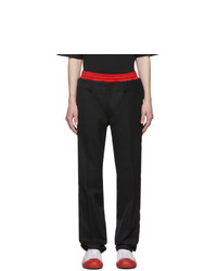 Burberry Black Wide Tailored Trousers