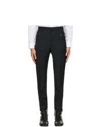 Maison Margiela Black Wool And Mohair Gabardine Trousers
