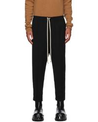 Rick Owens Black Wool Astaires Trousers