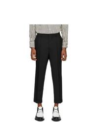 AMI Alexandre Mattiussi Black Wool Carrot Trousers