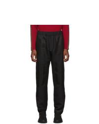 Fendi Black Wool Gabardine Cargo Trousers