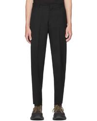 Alexander McQueen Black Wool Gabardine Trousers
