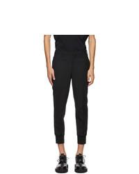 Neil Barrett Black Wool Rib Cuff Trousers