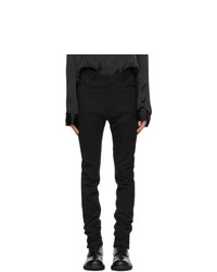 Ann Demeulemeester Black Wool Slim Trousers