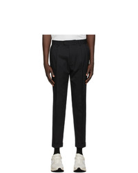 Z Zegna Black Wool Tailored Trousers