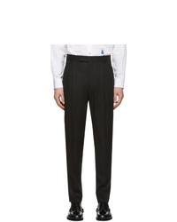 Paul Smith Black Wool Triple Pleat Trousers