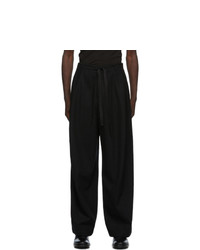 Ann Demeulemeester Black Wool Wide Trousers
