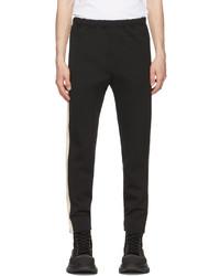 Alexander McQueen Black Zip Detail Trousers