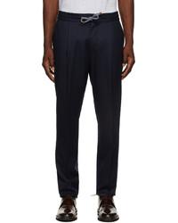 Brunello Cucinelli Navy Trousers
