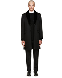 Fendi Black Mink Collar Coat