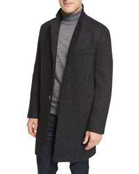 Michael Kors Michl Kors Wool Blend Knit Crombie Coat
