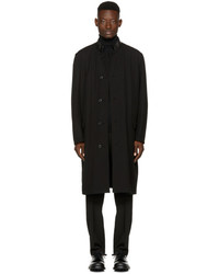 Lemaire Reversible Black Wool Coat
