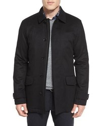 Ermenegildo Zegna Woolcashmere Blend Car Coat Black
