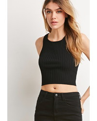 Forever 21 Ribbed Knit Crop Top