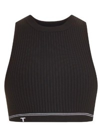 Alexander Wang T By Ribbed Knit Cropped Top