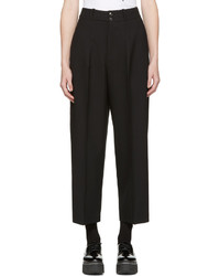 MCQ Alexander Ueen Black High Rise Trousers