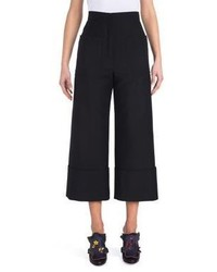 Fendi Cropped Wide Leg Mohair Wool Pants