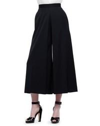Alexander McQueen High Waist Wool Culotte Pants