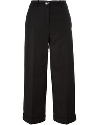 Love Moschino Wide Leg Cropped Trousers