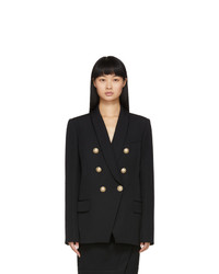 Balmain Black De Poudre Oversized 6 Button Blazer