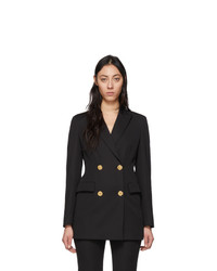 Versace Black Four Button Blazer