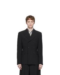 Comme Des Garcons Homme Plus Black Tropical Wool Blazer