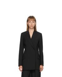 MSGM Black Wool Blazer