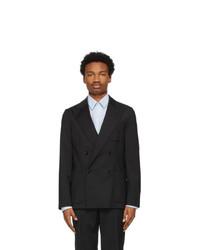 Sunflower Black Wool Double Blazer