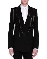 Alexander McQueen Double Breasted Blazer Wpins Chains