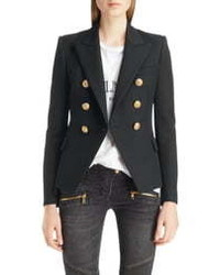 Balmain Double Breasted Wool Blazer