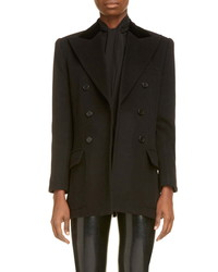 Saint Laurent Double Breasted Wool Cashmere Blazer