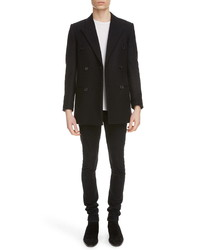 Saint Laurent Double Breasted Wool Jacket