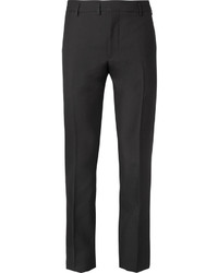 Saint Laurent Black Slim Fit Wool Suit Trousers